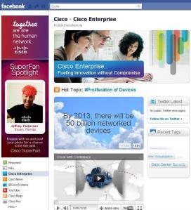 neue Cisco Fan-Seite auf Facebook